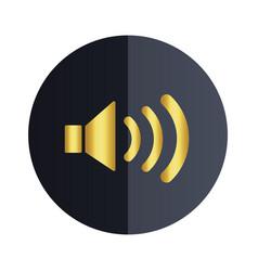 volume icon black circle background image vector image
