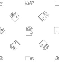 Wallet pattern seamless vector