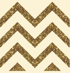 Wide glittery zigzag peak in golden shade vector