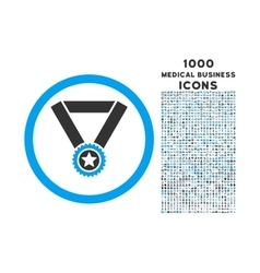 Winner Medal Rounded Icon with 1000 Bonus Icons vector image