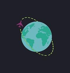 Air travel computer symbol vector image vector image