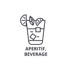 aperitif beverage line icon outline sign linear vector image