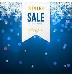 Sale banner with snowflakes vector image