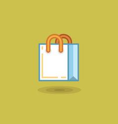 shopping bag on light green vector image vector image