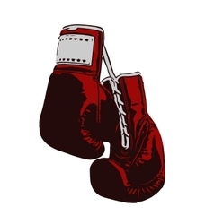 two boxing gloves vector image vector image