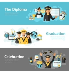 Graduation banner set vector
