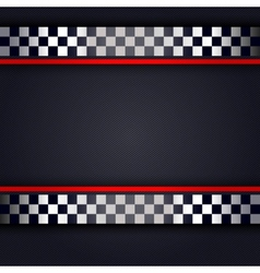 Perforated metallic sheet for race vector image