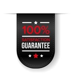 Satisfaction guaranteed black ribbon vector image vector image