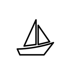thin line boat icon vector image