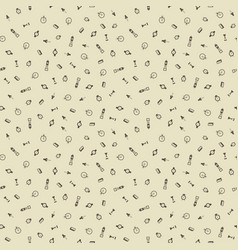 time hand drawn seamless pattern background vector image vector image