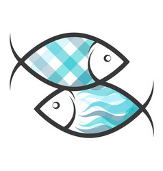 two fish symbol vector image