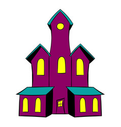 Castle icon cartoon vector