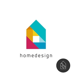 House design concept colorful rainbow geometric vector image