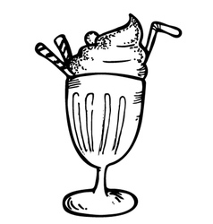 ice cream with float vector image vector image