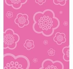 cherry blossom wallpaper vector image vector image