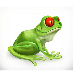 Frog Toad Funny animal 3d icon vector image