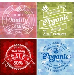 Label design vector image vector image