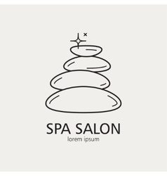 Outline logo with the image of stones for spa vector image vector image
