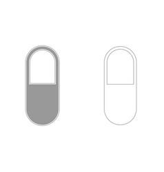 pill grey set icon vector image