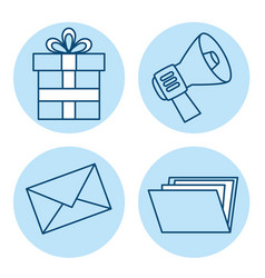 set of email marketing and email advertising vector image