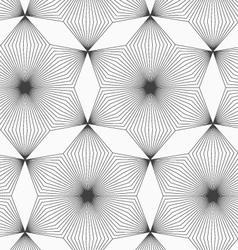Slim gray linear stripes rhombus flowers vector image vector image