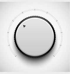 White technology music button vector