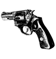 357 magnum revolver vector image