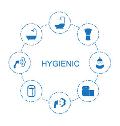 8 hygienic icons vector