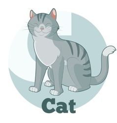 ABC Cartoon Cat vector image