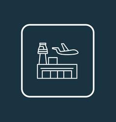 airport icon line symbol premium quality isolated vector image