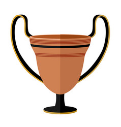 Ancient greece clay kantharos wine cup antiquity vector