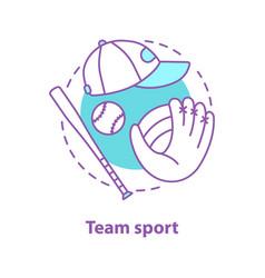 baseball concept icon vector image