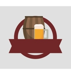 Beer cup barrel vector