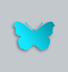 Blue butterfly vector image