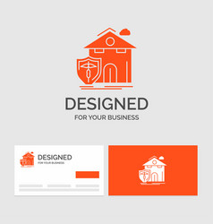 Business logo template for insurance home house vector