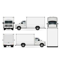 Cargo van vector
