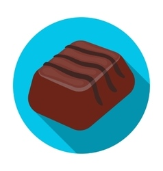 Chocolate candy icon in flat style isolated on vector