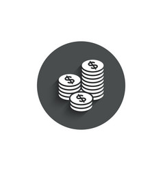 coins money simple icon banking currency vector image
