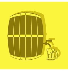 Color icon with keg beer vector