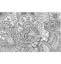 coloring page for adults with abstract doodle vector image