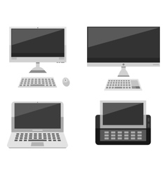 Computer laptop network and desktop technology vector