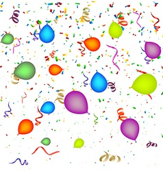 Confetti with Balloons Background vector image