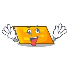 Crazy parallelogram mascot cartoon style vector