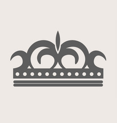 crown royal diadem or tiara with ornate ornament vector image