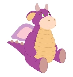 Cute toy purple dragon vector image