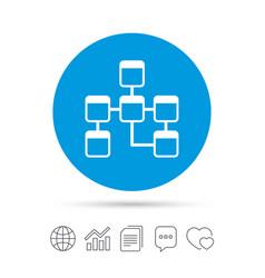 database sign icon relational database schema vector image