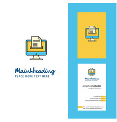 document downloading creative logo and business vector image