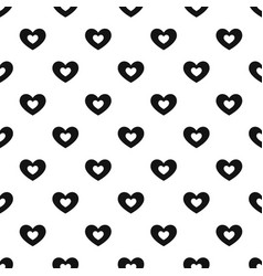 Double heart pattern seamless vector