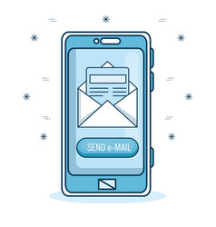 email marketing and promotion email notification vector image