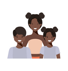 family smiling and waving avatar character vector image